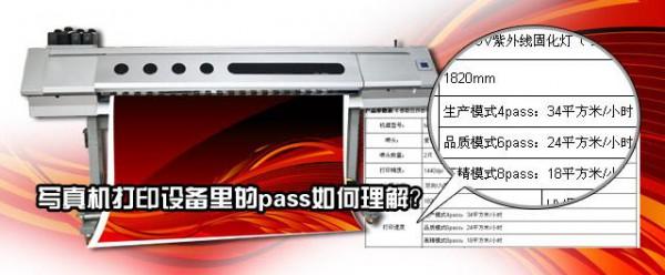 噴繪機列印設備里的pass如何理解?