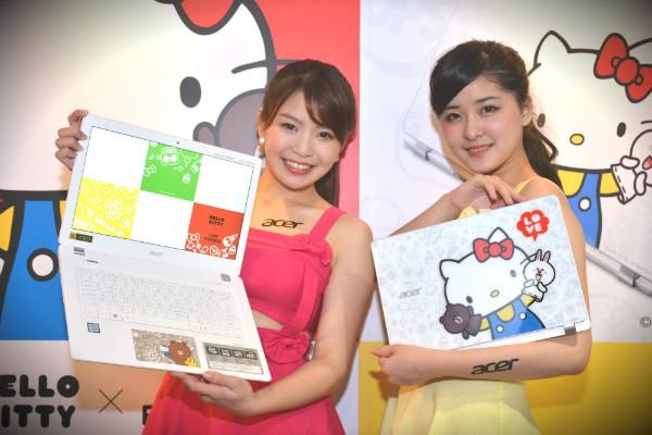 熊大、Kitty 聯手出擊? LINE x Acer 聯名高效能筆電推出!