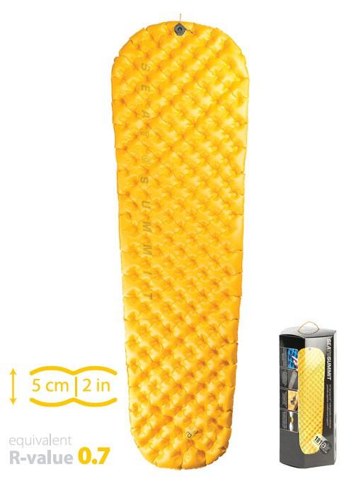 Sea to Summit Ultra light air 超輕量系列睡墊-標準版-R 黃(含充氣收納袋+維修備品)