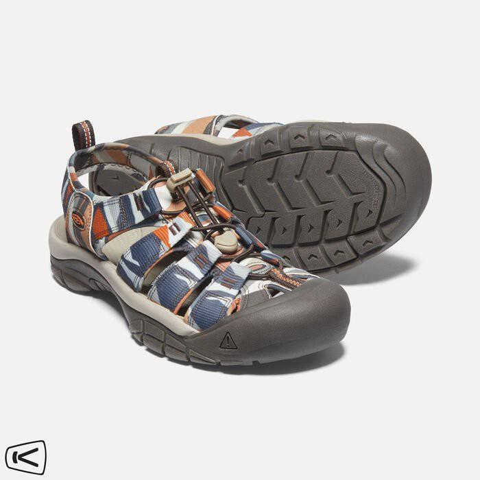 Keen NEWPORT H2 男款 護趾運動涼鞋 1024624 藍/白/橘