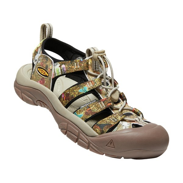 Keen NEWPORT H2 女款 護趾運動涼鞋 1025626 淺軍綠/印花 NAC 日本聯名限定款