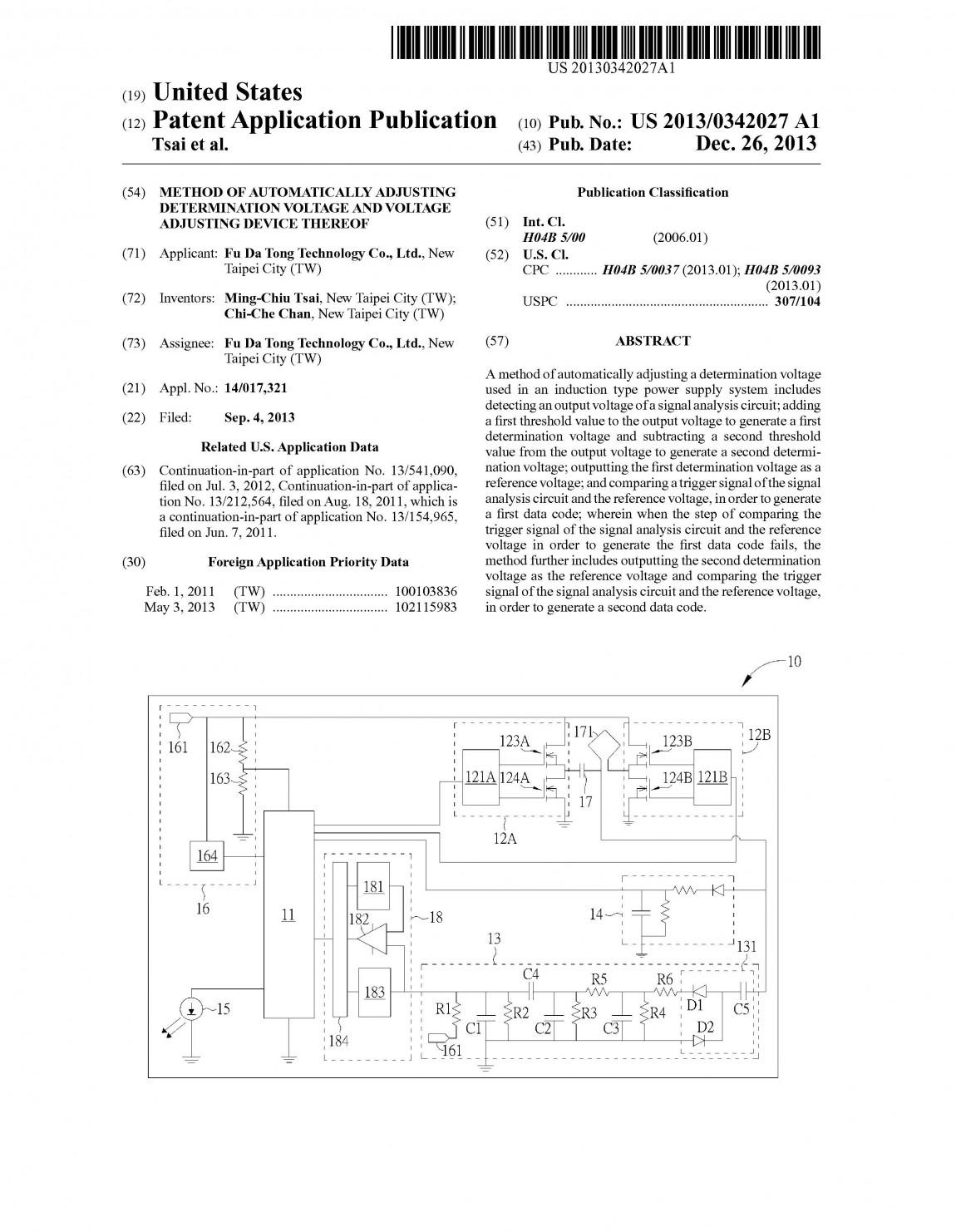 富達通專利17- Method of Automatically Adjusting Determination Voltage and Voltage Adjusting Device(美國)pat20130342027