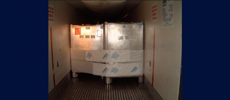 黏貼式捆綁帶TY-GARD貨櫃棧板綑綁示意圖---可直接黏貼貨品和棧板之間