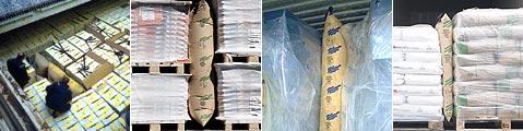 BATES貨櫃充氣袋確實填充在貨櫃內空隙