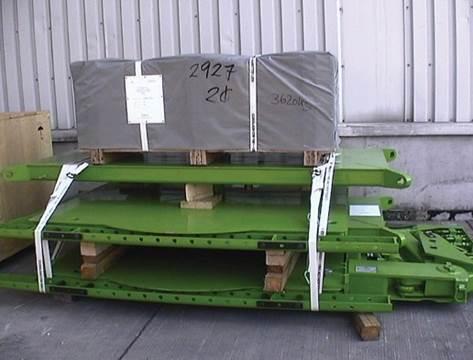 重件捆綁帶固定大型機具示意圖--綑綁在機具適當位置可達到穩固不晃動