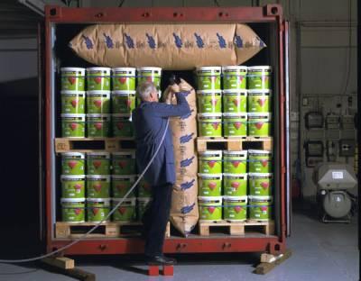 BATES貨櫃充氣袋實際操作圖片