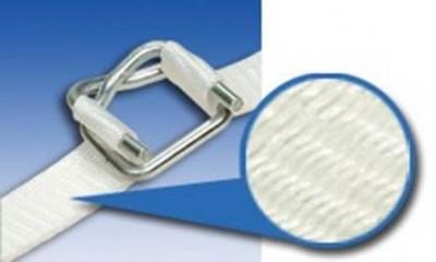 柔性纖維編織打包帶構造圖--似毛線編織般交織而成,強化了纖維打包帶的拉力