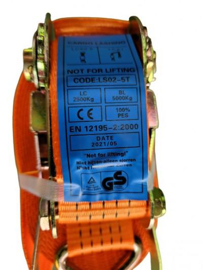 寧泰科技-貨車綑綁帶-5000KG破斷力-GS認證-1