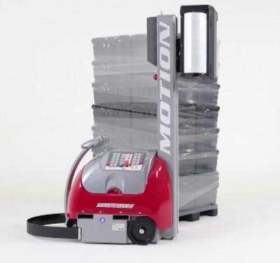 motion自走式包膜機器人可直接在貨品旁直接裹膜打包