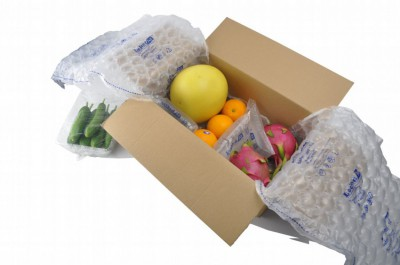 3.5cm圓形氣泡布包裝圖示--對於嬌嫩水果,膨脹好氣泡直徑大能提供良好的緩衝保護能力
