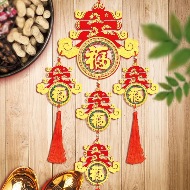 木板吊飾(5字春)