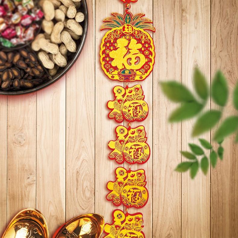 木板吊飾(鳳梨4福)