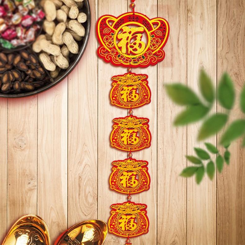 木板吊飾(元寶福字4福袋)