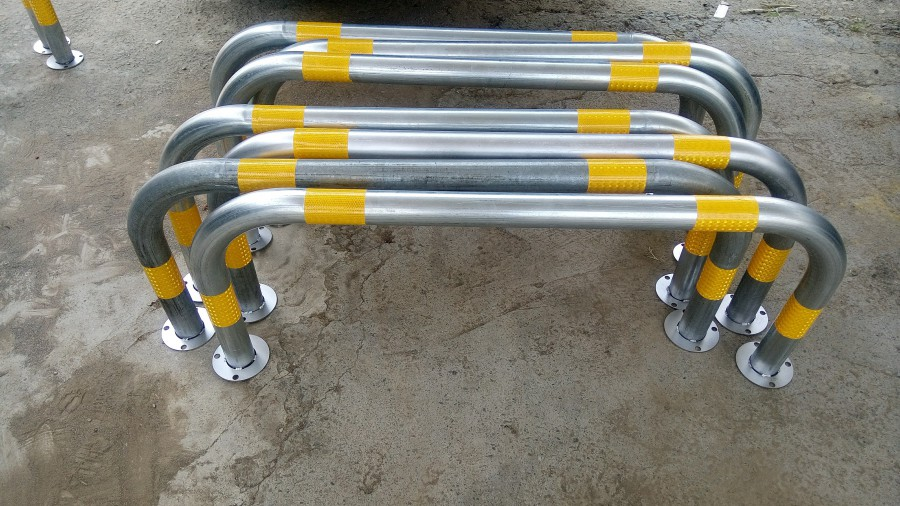 ㄇ型固定式車阻-鍍鋅鋼款