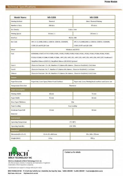 MS520B MS530B Printer Module_頁面_2