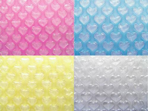 愛心氣泡布/氣泡帶/氣泡紙 試用組合-透明色系