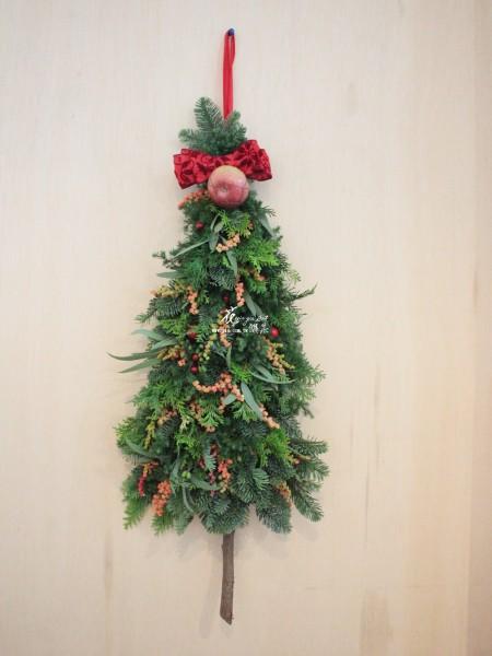【門把上的聖誕樹裝飾】