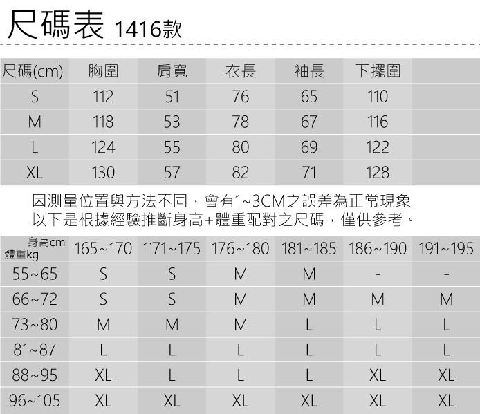 1416尺碼表
