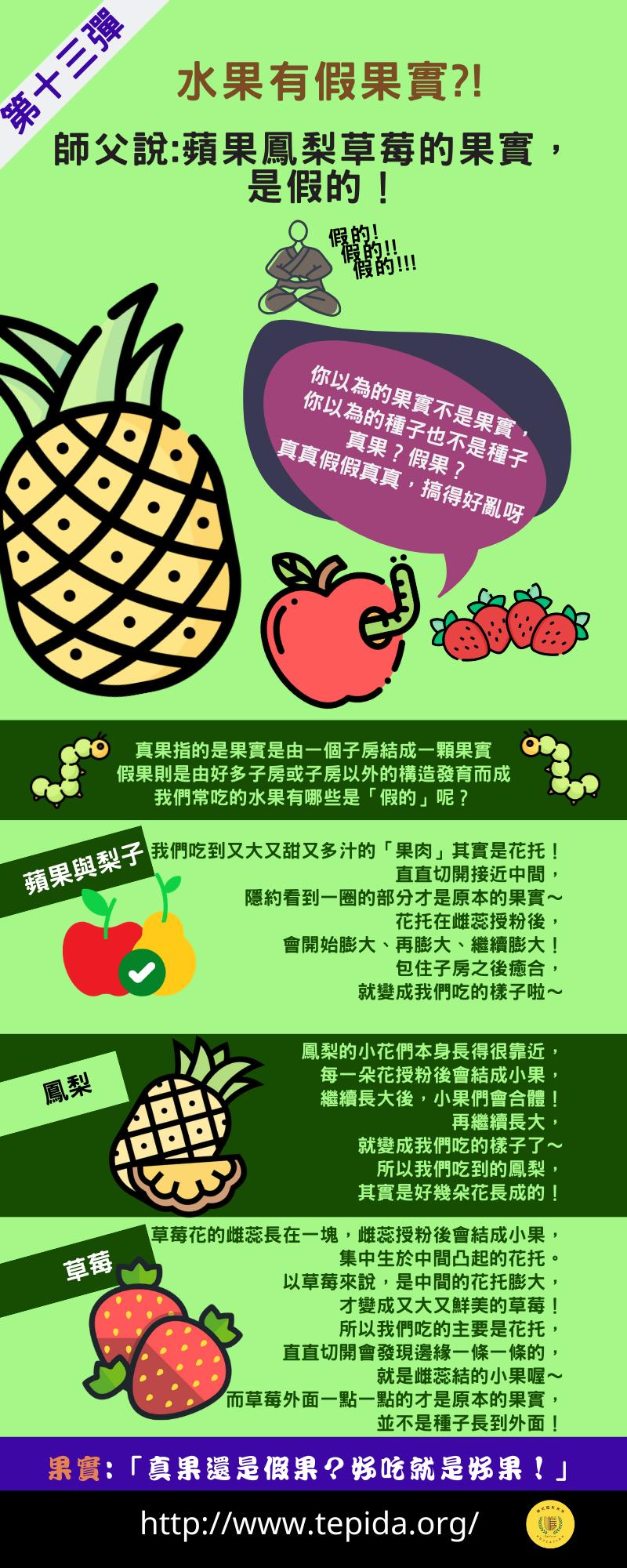 【水果有假果實_!】