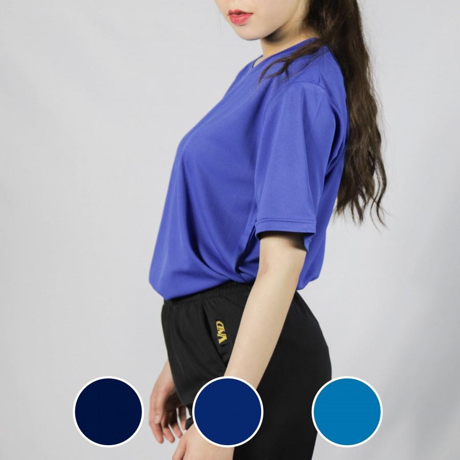 經典圓領短袖排汗衣-藏青色/寶藍色/水藍色-