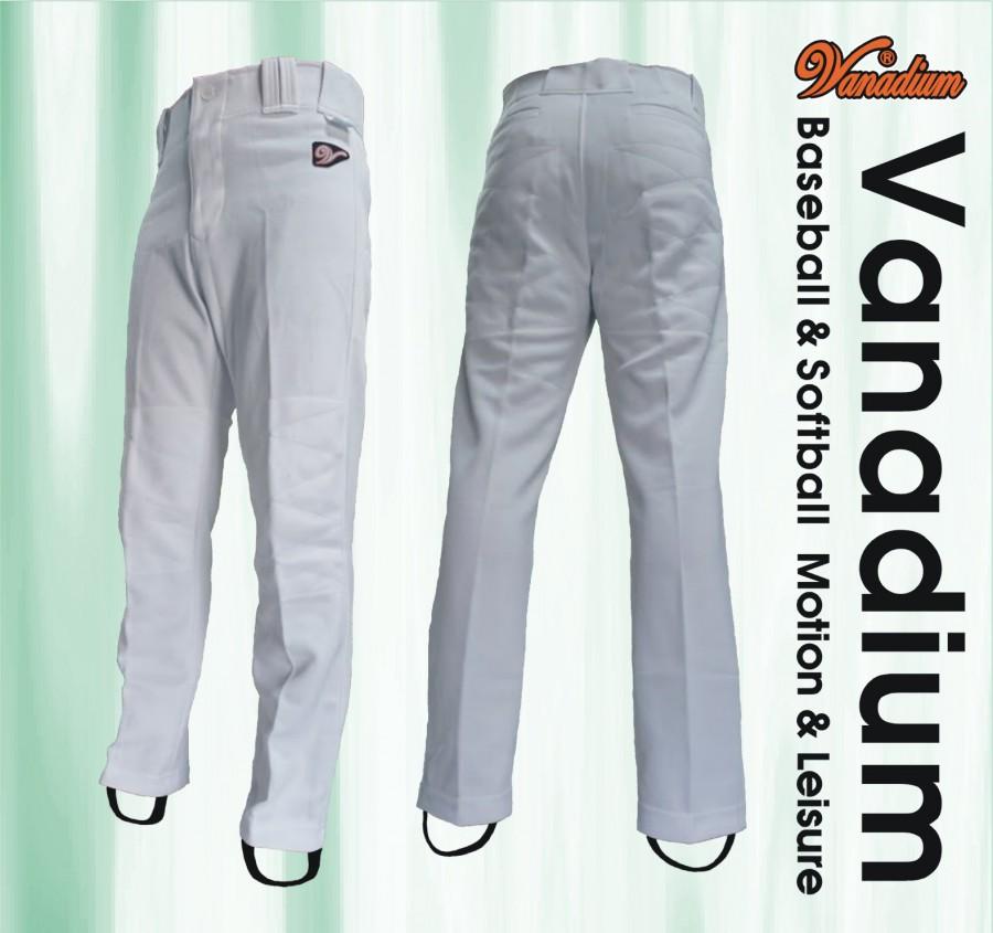 棒球直筒褲 (白)
