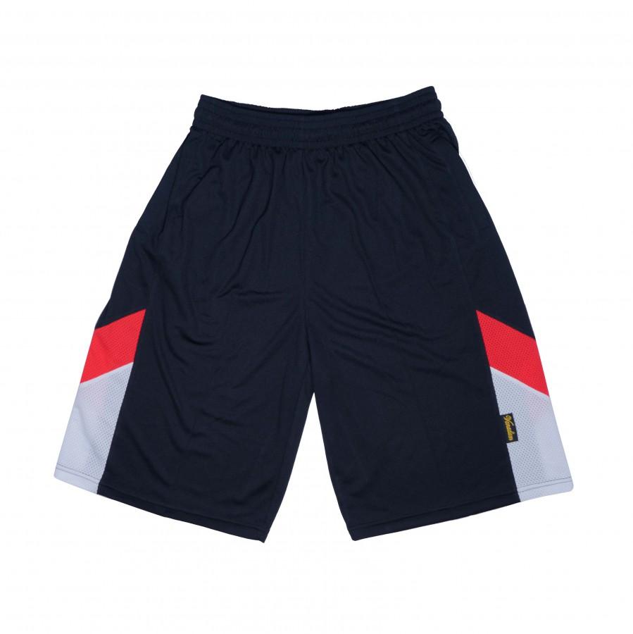 籃球褲(黑白紅)
