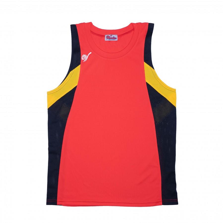 單面穿籃球服(紅黑黃)