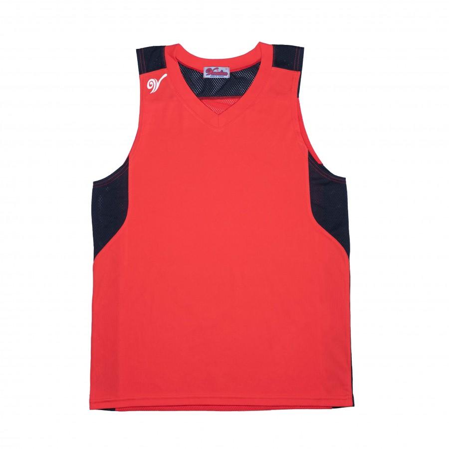 單面穿籃球服(紅黑)