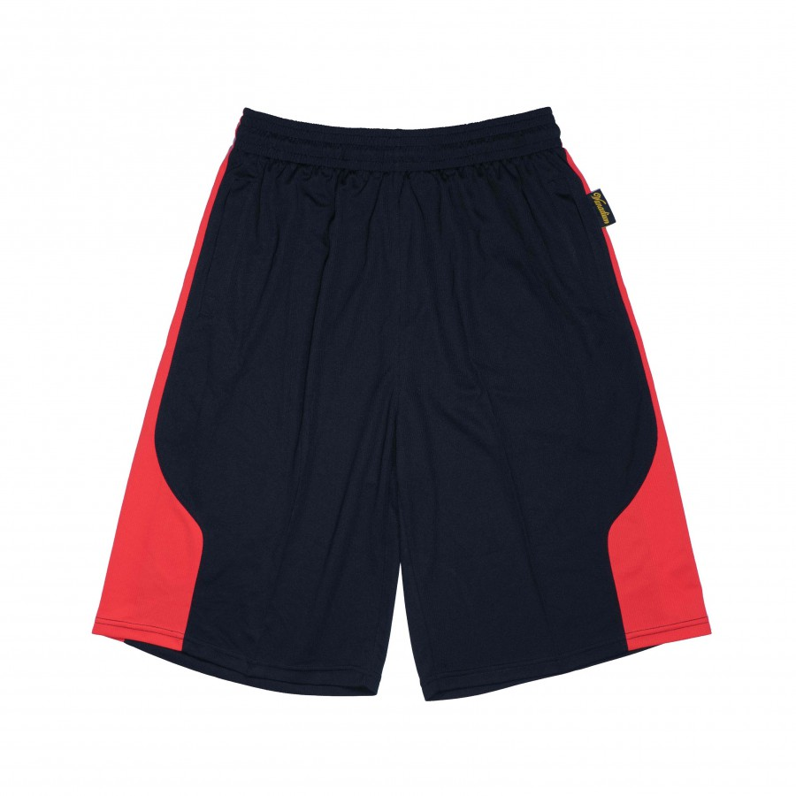 籃球褲(黑紅)