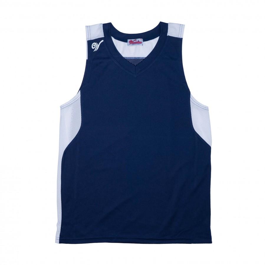 單面穿籃球服(藏青白)