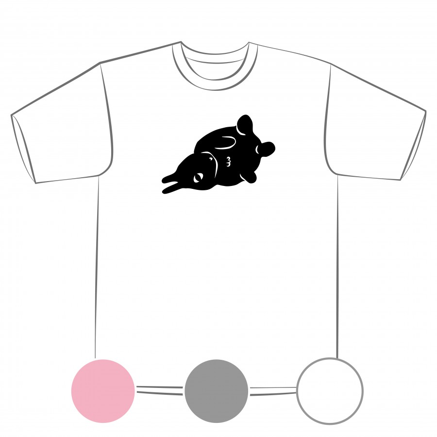【預購】奇怪的生物-兔子-排汗衣/粉紅色/灰色/白色-