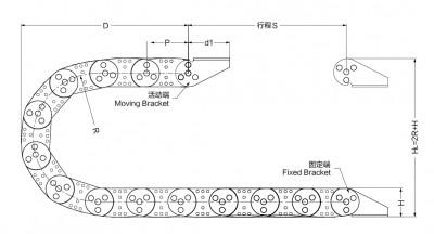 鋼製電纜拖鏈需求表