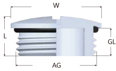 43-MGY型金屬圓型堵頭-剖面圖