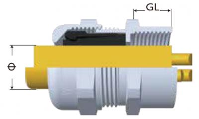 F-SS電纜固定頭-剖面圖