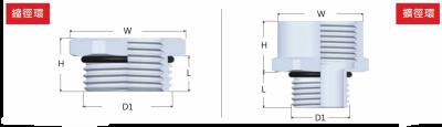 45-BJH-SS型金屬變徑環-剖面圖