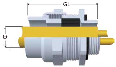 JGEX接管式電纜固定頭-剖面圖