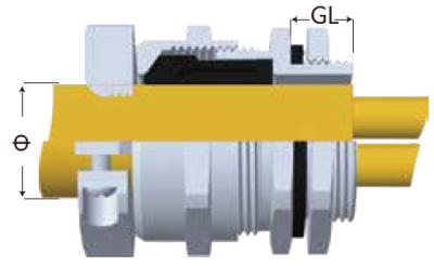 SSJ-SS型雙鎖緊電纜固定頭-剖面圖