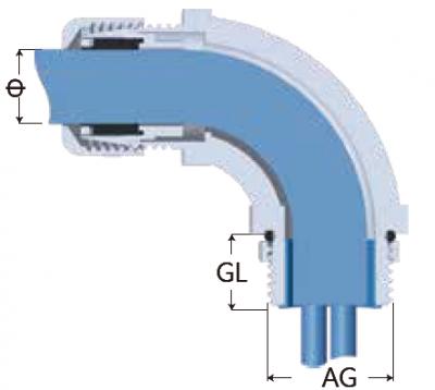 29-FTL-F型金屬電纜固定頭-剖面圖