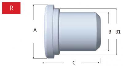 49-R型橡膠堵頭-剖面圖