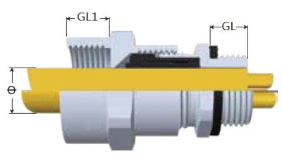 M-F-SS接管式電纜固定頭-剖面圖