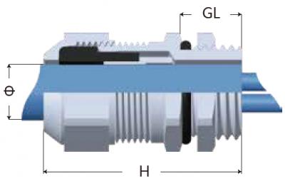 35-EMC-KT型電磁屏蔽電纜固定頭-剖面圖