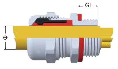 FT-V0阻燃型電纜固定頭-剖面圖